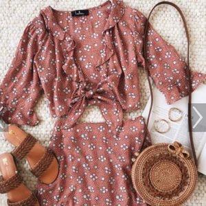 Carnation cotton floral top